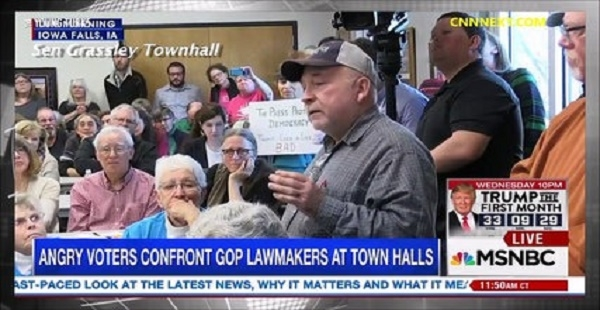 Republicans Were NOT Prepared For Town Hall Backlash On Donald Trump