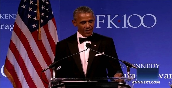 Former President Obama remarks upon receiving JFK Profile in Courage Award