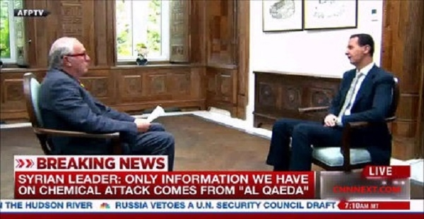 President Bashar al-Assad Gives First Interview Since Syria Airstrikes